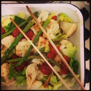 super easy cauliflower salad